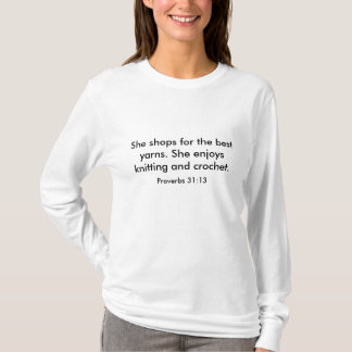Knitting and Crochet ladies shirt