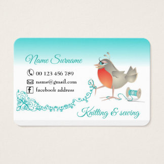 knitting and sewing business card