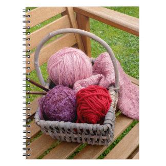 Knitting basket notebook