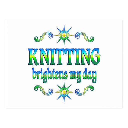 Knitting Brightens Post Card