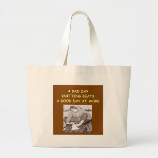 knitting canvas bag