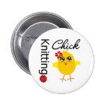 Knitting Chick 2 Pinback Button