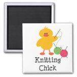 Knitting Chick Magnet
