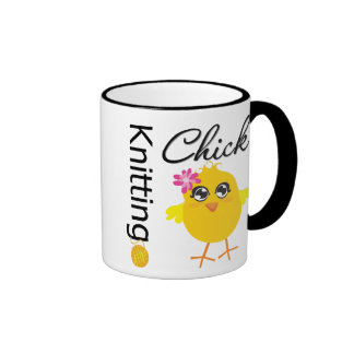 Knitting Chick Coffee Mugs