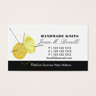 Knitting Craft Artist Business Card