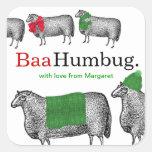 Knitting crochet Christmas sheep hat blanket scarf Stickers
