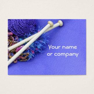 Knitting, crocheting & fiber arts! business card