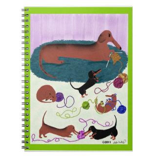 Knitting Dachshund Journal