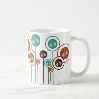 Knitting Daisies Basic White Mug