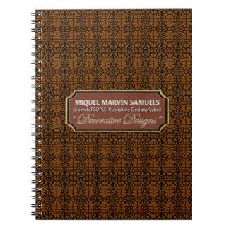 knitting Decorative Black Brown Modern Notebook