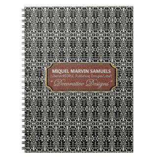 knitting Decorative Black White Modern Notebook