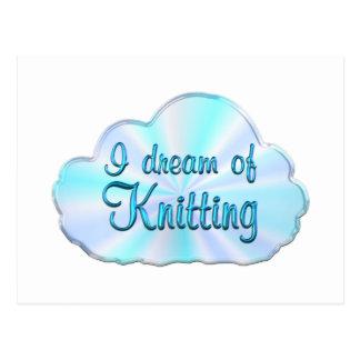 Knitting Dreamer Postcard