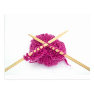 knitting fanatic postcard