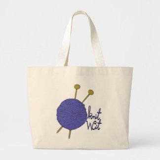knitting gift ideas large tote bag