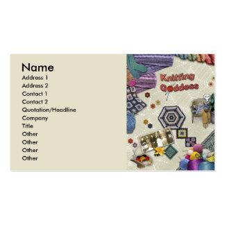 Knitting Goddess Business Card Templates