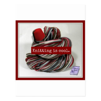 Knitting is Cool Postcard