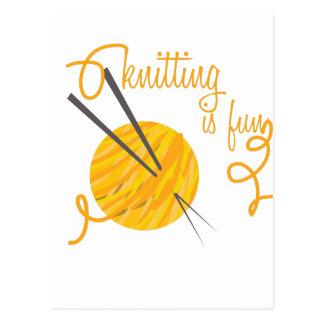 Knitting Is Fun Postcard