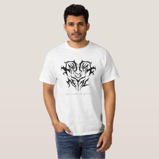 Knitting is Metal Logo Black/White T-Shirt