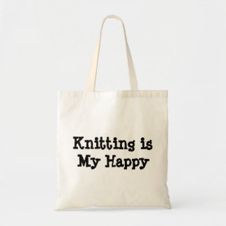 Knitting is My Happy Tote Bag