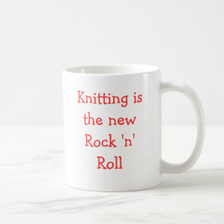 Knitting is the new Rock 'n' Roll Coffee Mug