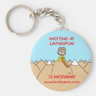 knitting knirvana lambspun basic round button key ring