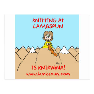 knitting knirvana lambspun postcards