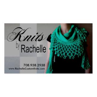 """Knitting"" Knit, Crochet, Handmade, Crafts Business Cards"