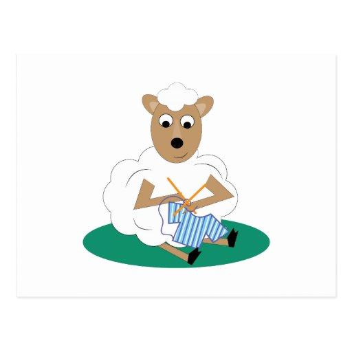 Knitting Lamb Post Cards
