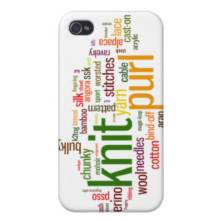Knitting Lexicon - words for knitters! Knit On! iPhone 4/4S Cases