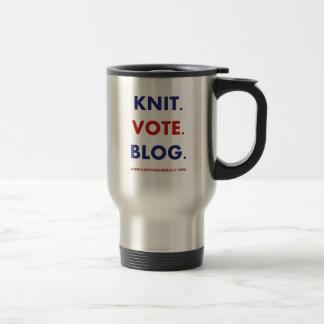 Knitting Liberally Travel Mug