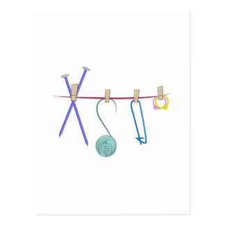 Knitting Line Postcard