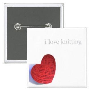 knitting love button