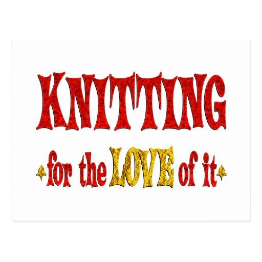Knitting Love Postcard
