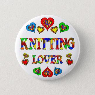 Knitting Lover 6 Cm Round Badge