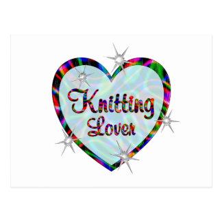 Knitting Lover Postcard