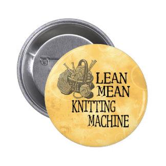Knitting Machine 6 Cm Round Badge