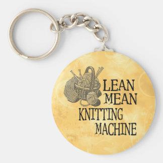 Knitting Machine Basic Round Button Key Ring