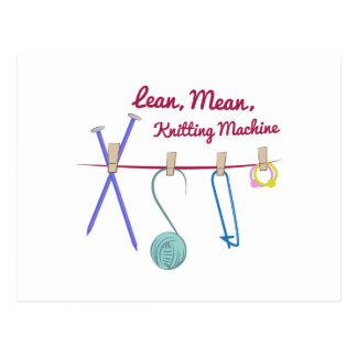 Knitting Machine Postcard