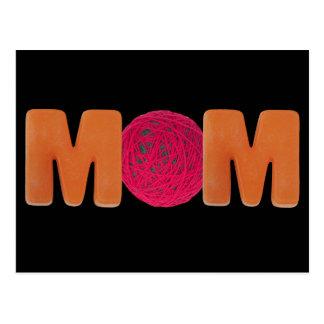 Knitting Mum Postcard