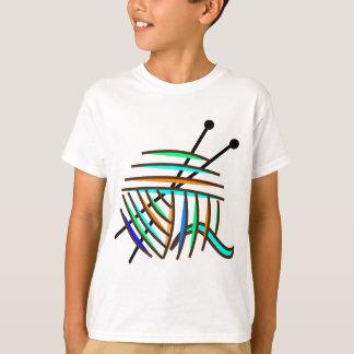 Knitting Needles and Colorful Yarn T Shirt