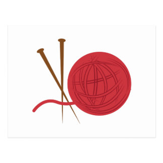 Knitting Needles Postcard