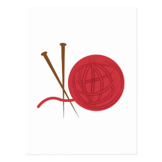 Knitting Needles Postcard