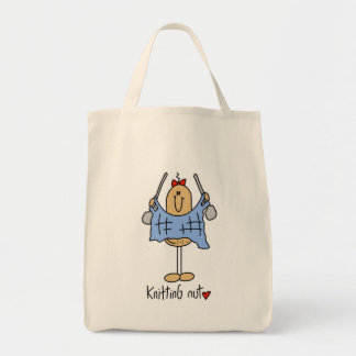 Knitting Nut T-shirts and Gifts Tote Bags