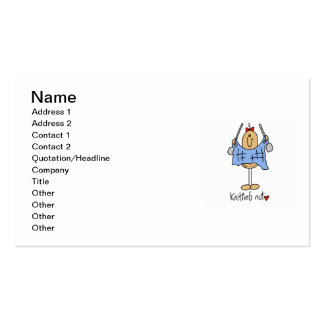 Knitting Nut T-shirts and Gifts Business Cards