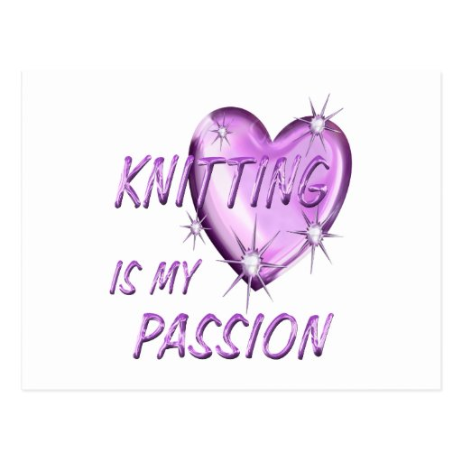 KNITTING PASSION POST CARD