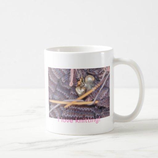 Knitting photo mugs