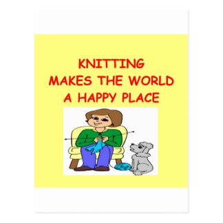 knitting post card