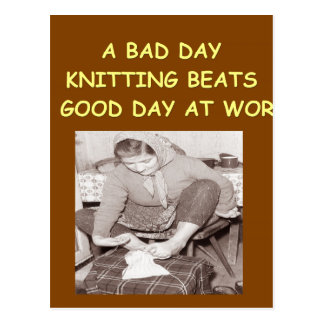 knitting post cards