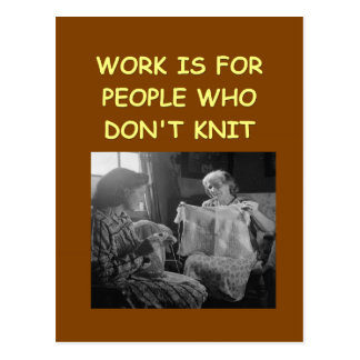 knitting postcards