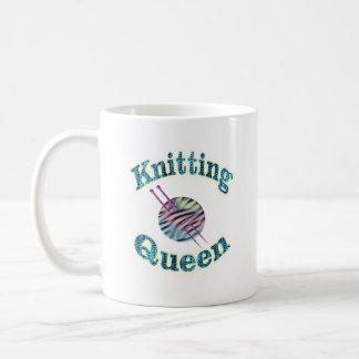 Knitting Queen Basic White Mug